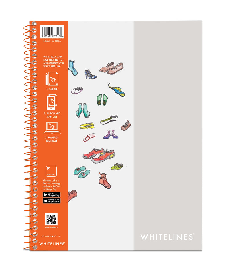 "Whitelines Wirebound Sketchbook 12""x9"" Plain Paper"