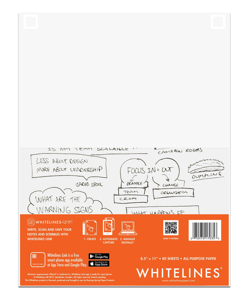 "Whitelines All Purpose Paper 8.5"" X 11"" Plain"