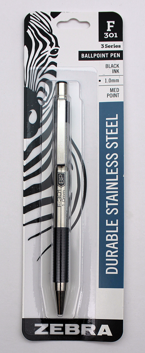 Zebra F-301 Ballpoint Retractable Pen 1.0mm - Black