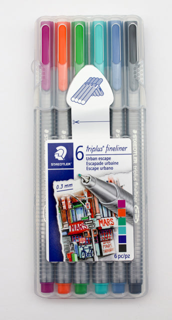 Staedtler Triplus Fineliner - Urban Escape - 6 Pack