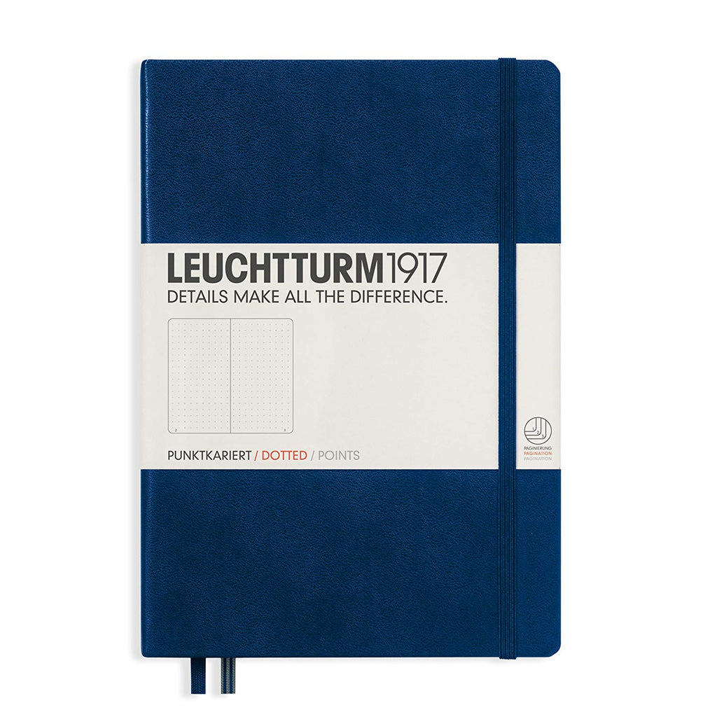 Leuchtturm1917 Medium A5 Notebook, Navy Blue - Dot Grid