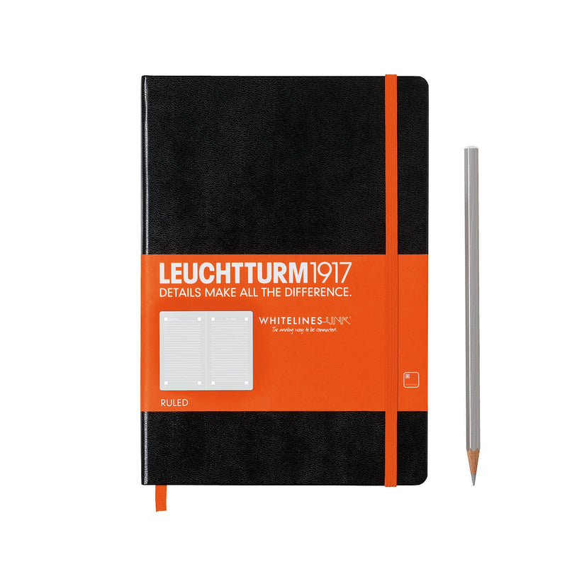 Leuchtturm1917 - Whitelines Hardcover Notebook - Medium (A5) - Lined