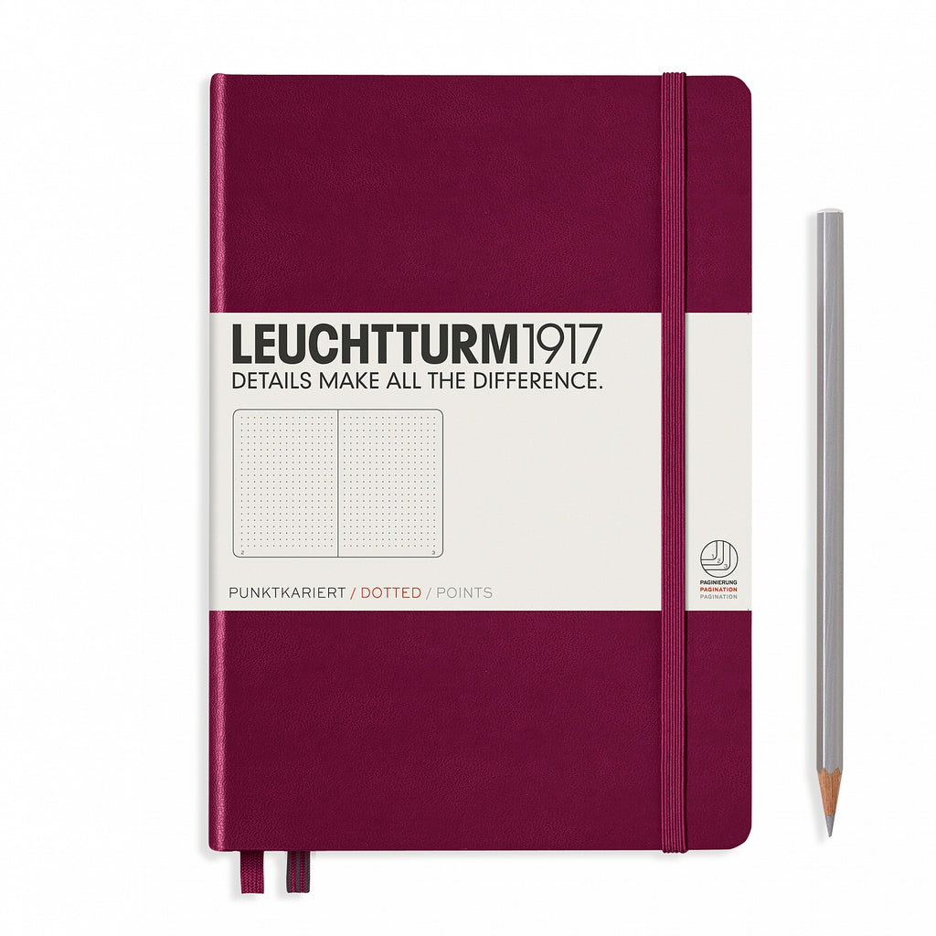 Leuchtturm1917 Medium A5 Notebook, Port Red - Dot Grid