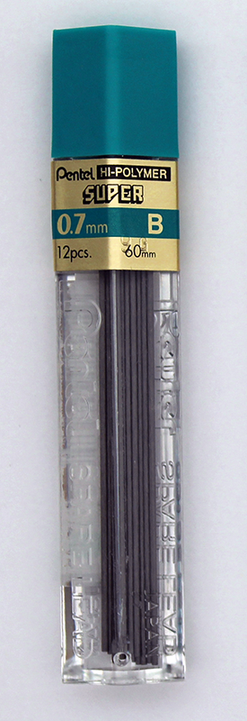 Pentel Super Hi-Polymer Lead 0.7mm - B