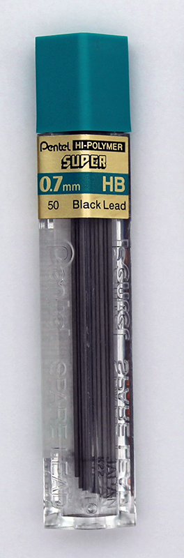 Pentel Super Hi-Polymer Lead 0.7mm - HB