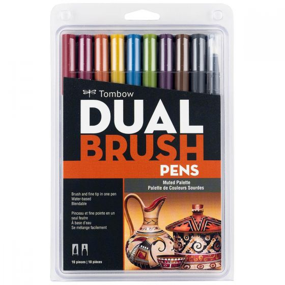 Tombow Dual Brush Pen Set, Muted - 10 pack