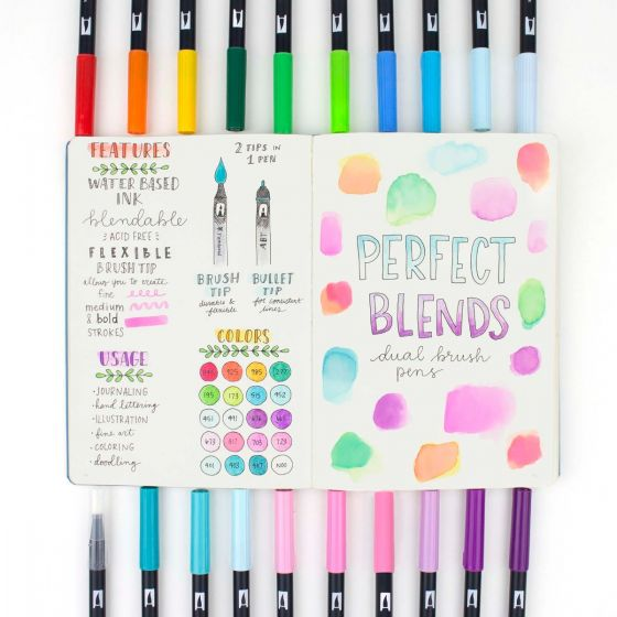 Tombow Dual Brush Pen Set, Perfect Blends - 20 pack