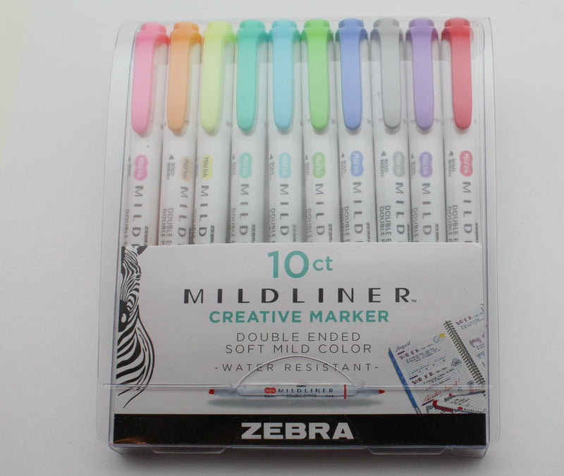 Zebra Mildliner Double Ended Highlighter Assorted 10 Pack