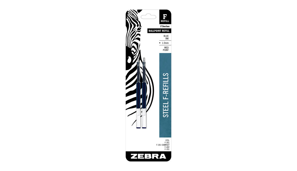 Zebra F-Refill 1.0mm Blue - 2 pack