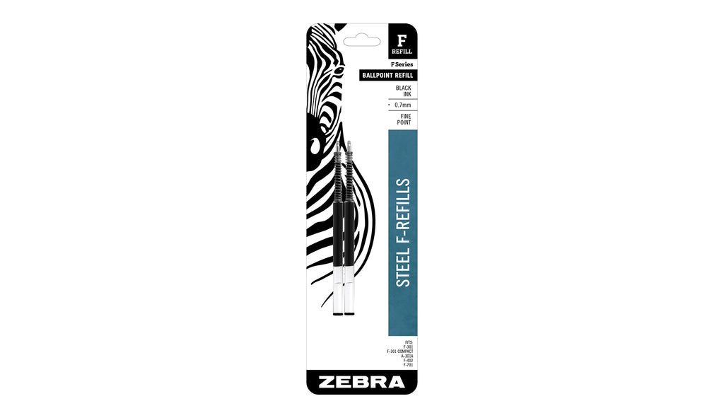 Zebra F-Refill 0.7mm Black - 2 pack