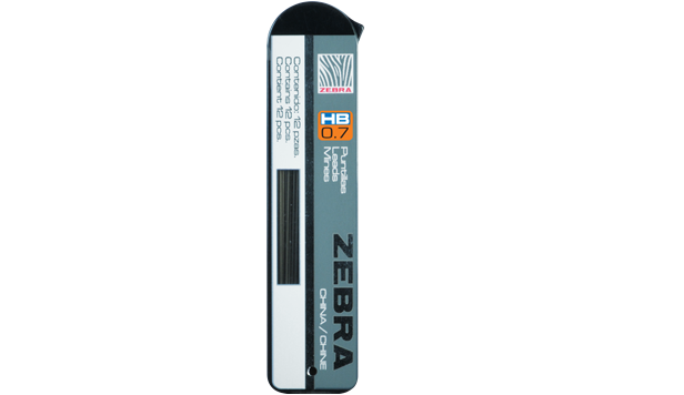 Zebra Standard HB Mechanical Pencil Lead Refill 0.7mm 12 Piece