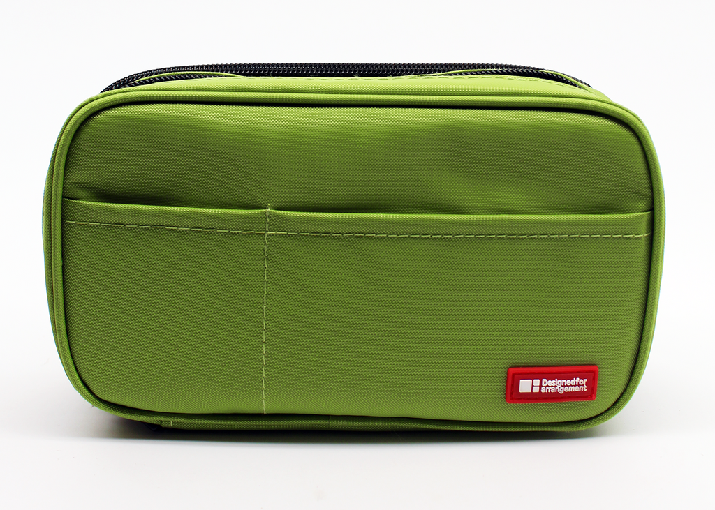 Lihit Lab Book Style Pen Case - Double - Green