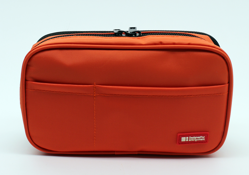 Lihit Lab Book Style Pen Case - Double - Orange