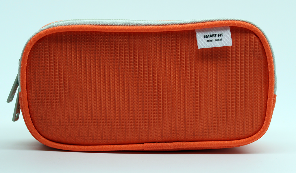 Lihit Lab Smart Fit Double Pen Case Small - Orange