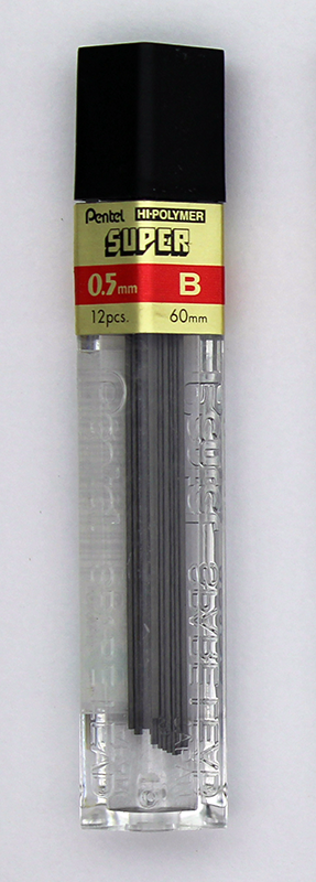 Pentel Super Hi-Polymer Lead 0.5mm - B