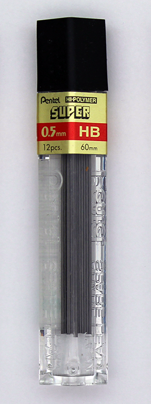 Pentel Super Hi-Polymer Lead 0.5mm - HB