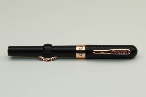 Conklin Mark Twain Crescent Filler Fountain Pen - Black Chase, Medium