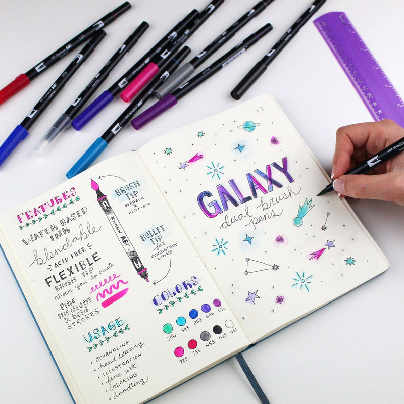 Tombow Dual Brush Pen Set, Galaxy - 10 Pack