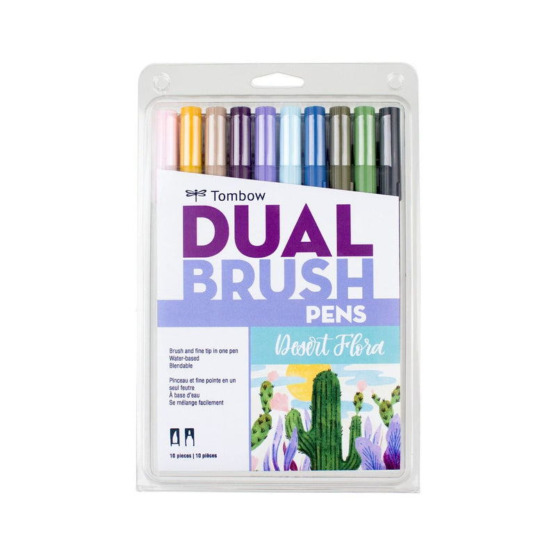 Tombow Limited Edition Dual Brush Pen Set, Desert Flora - 10 Pack