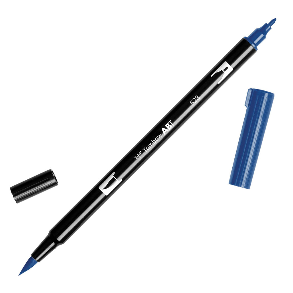 Towbow Dual Brush Pen - Navy Blue (528)