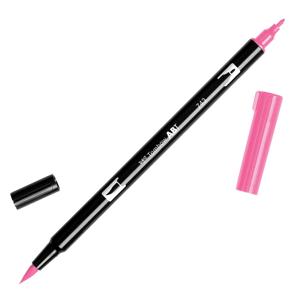 Towbow Dual Brush Pen - Hot Pink (743)