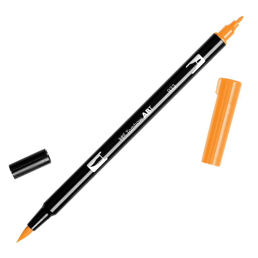 Towbow Dual Brush Pen - Orange (933)