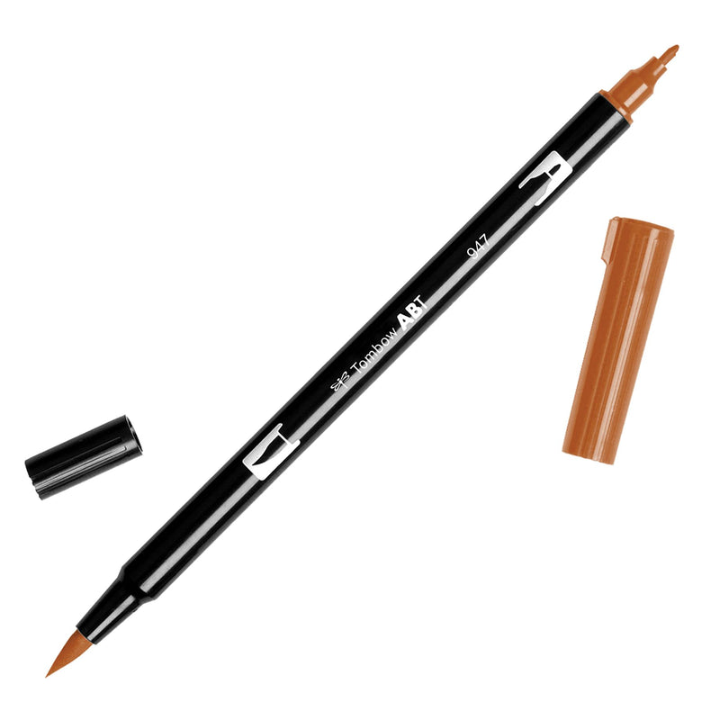 Towbow Dual Brush Pen - Burnt Sienna (947)