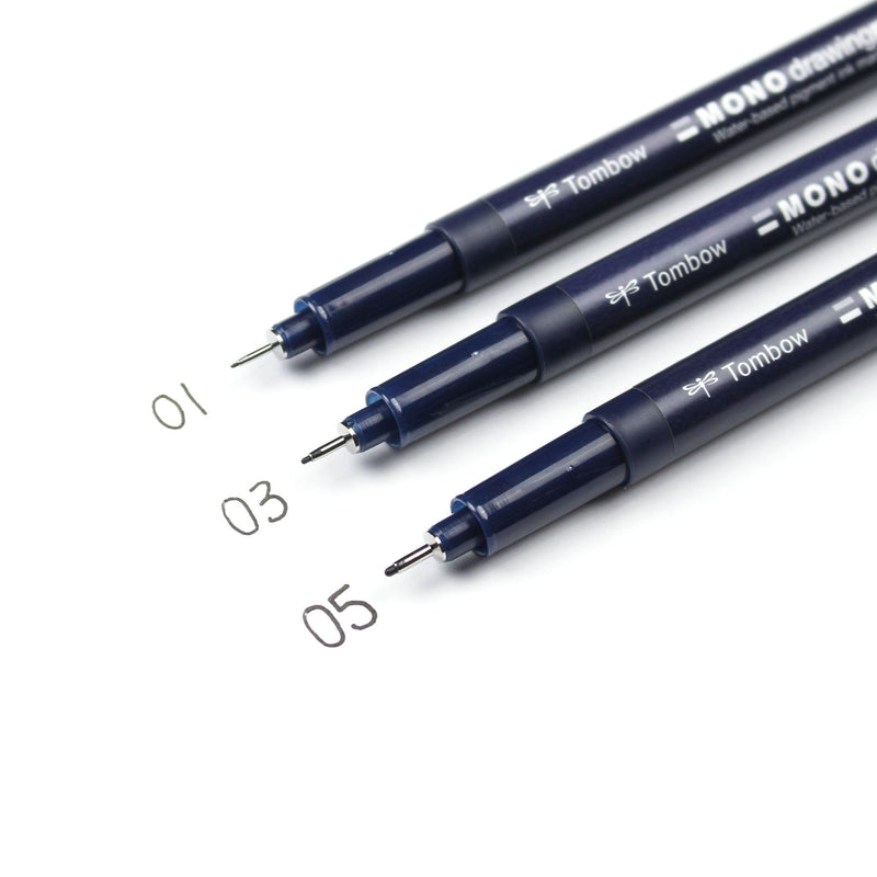 Tombow MONO Drawing Pen, 3-Pack