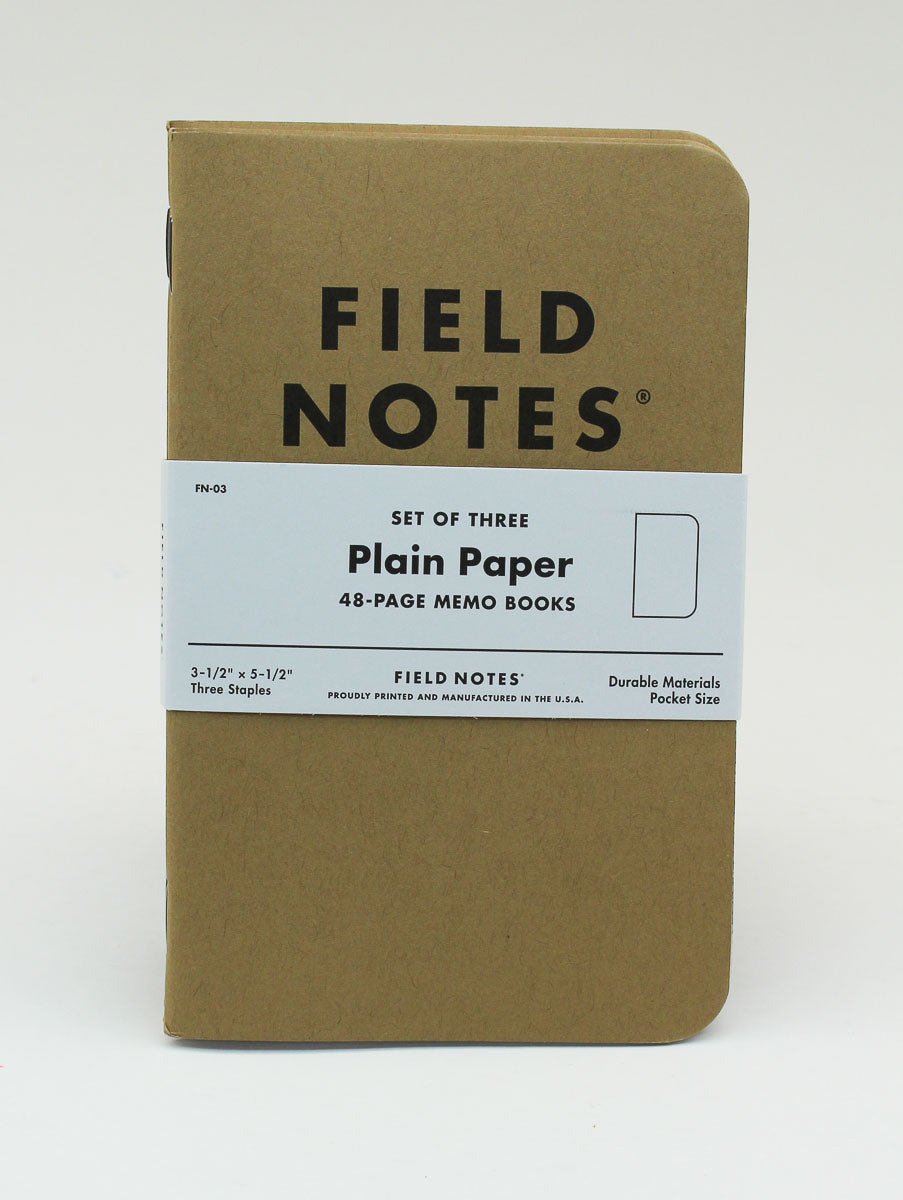 Field Notes Notebook - Original - Plain