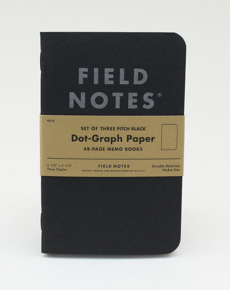 Field Notes Notebook - Pitch Black - Dot Graph