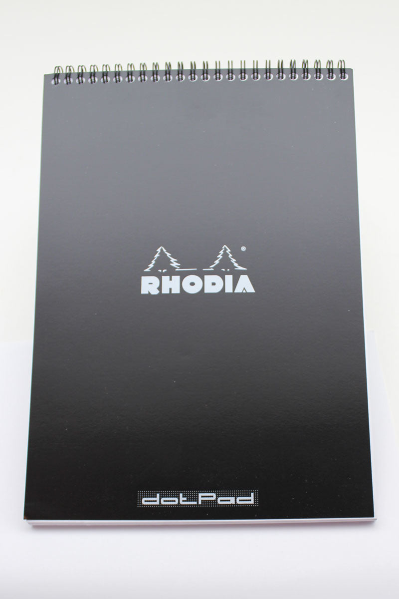 Rhodia No. 18 Dot Grid Wirebound Pads - Black 8-1/4 x 11-3/4