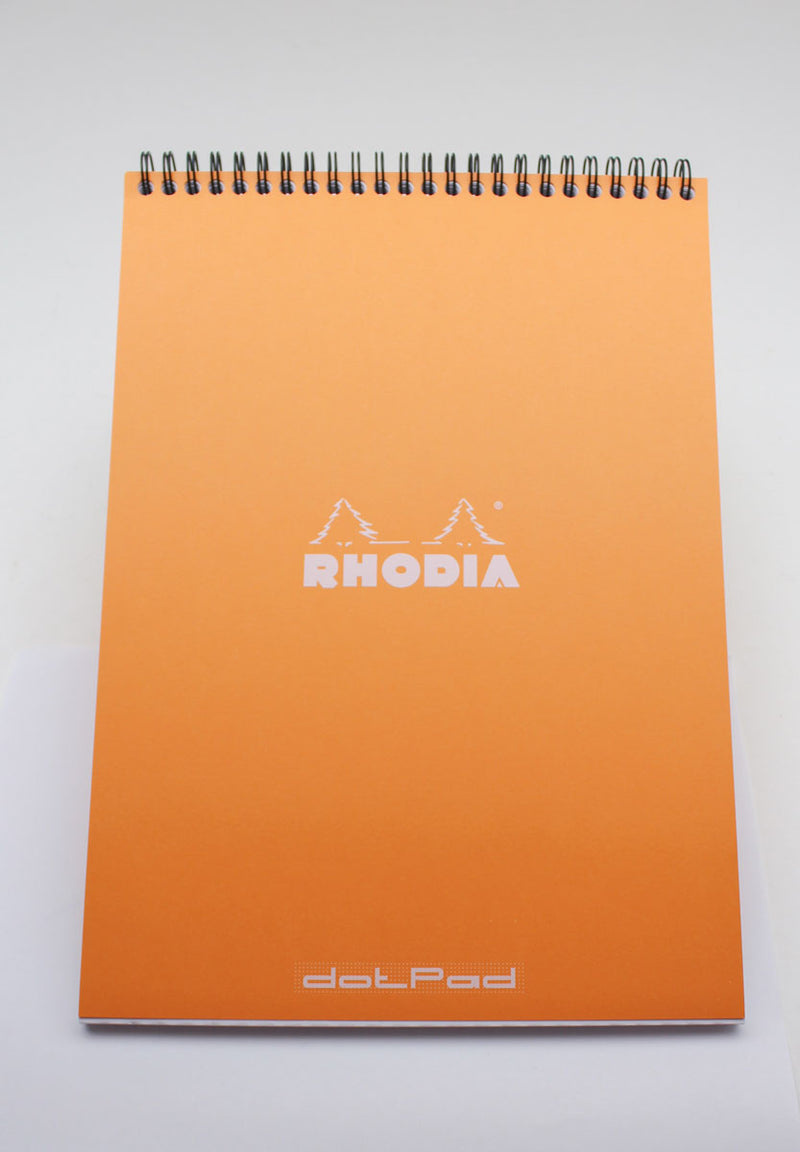 Rhodia No. 18 Dot Grid Wirebound Pads - Orange 8-1/4 x 11-3/4