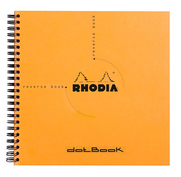 Rhodia Classic Reverse Book Wirebound - Orange 8-1/4 x 8-1/4