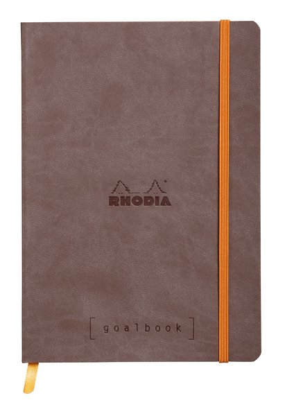 Rhodia A5 Goal Book, Chocolate, Dot Grid 120 Sheets - 5 ½ x 8 ¼