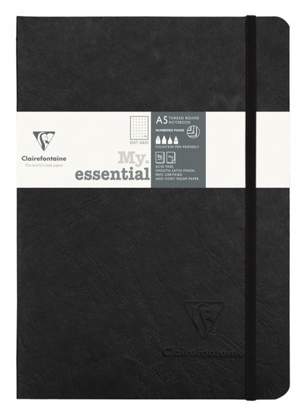Clairefontaine My Essential Notebook Dot Grid A5 - Black