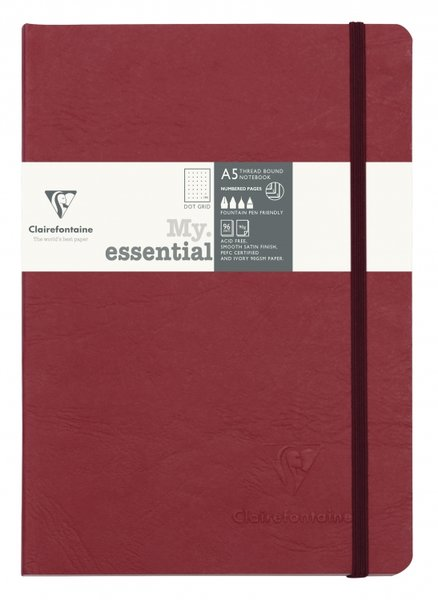 Clairefontaine My Essential Notebook Dot Grid A5 - Red
