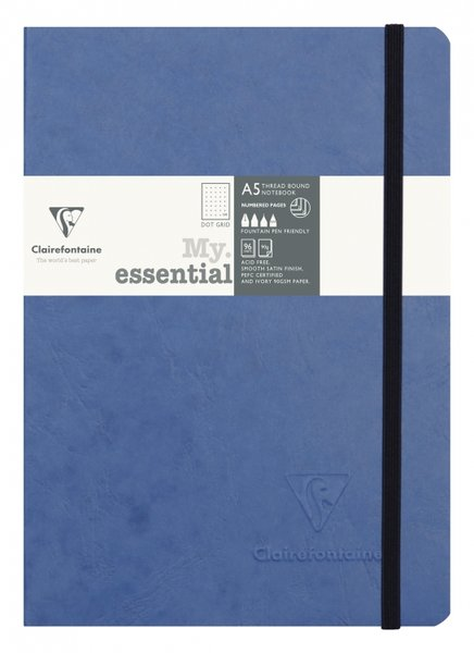 Clairefontaine My Essential Notebook Dot Grid A5 - Blue