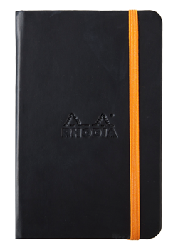 Rhodia A6 Rhodiarama Webnotebook Black Lined 96 Sheets - 3 1/2 x 5 1/2