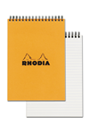 Rhodia Classic Notepads Top Wirebound 6x8-¼ Lined Orange