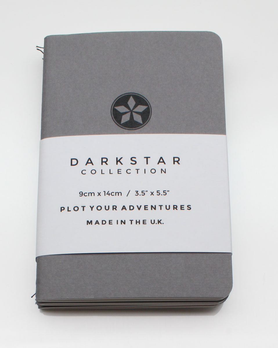 DarkStar Collection Pocket Notebook - Space Grey - Mixed
