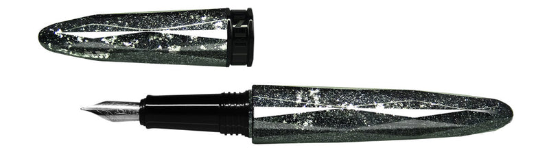 Benu Pen - Briolette Collection - Silver Ore Fountain Pen - Medium