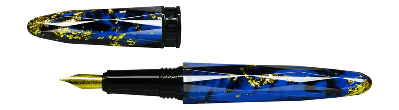 Benu Pen - Briolette Collection - Jewel Blue Fountain Pen - Fine