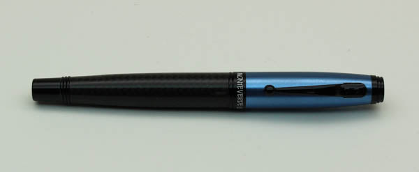 Monteverde Invincia Carbon Fiber Fountain Pen - Blue, Medium