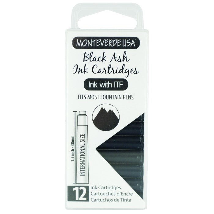 Monteverde Black Ash Ink - Cartridges