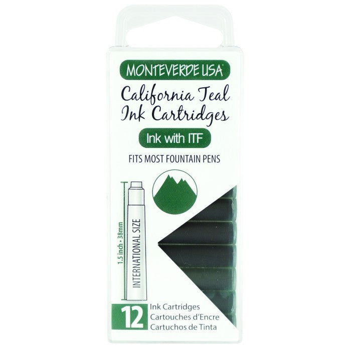 Monteverde California Teal Ink - Cartridges