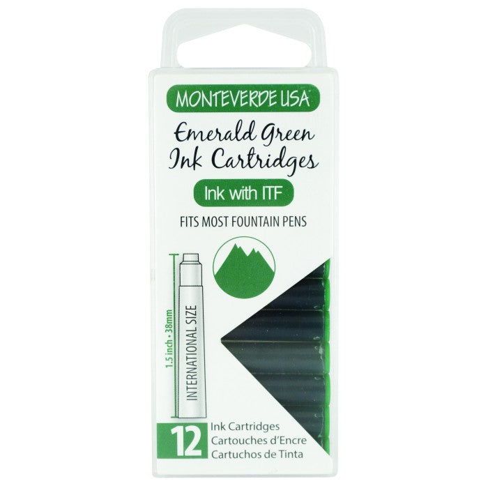 Monteverde Emerald Green Ink - Cartridges