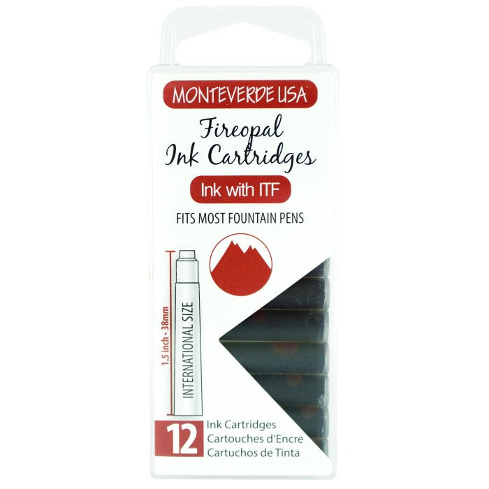 Monteverde Fireopal Ink - Cartridges