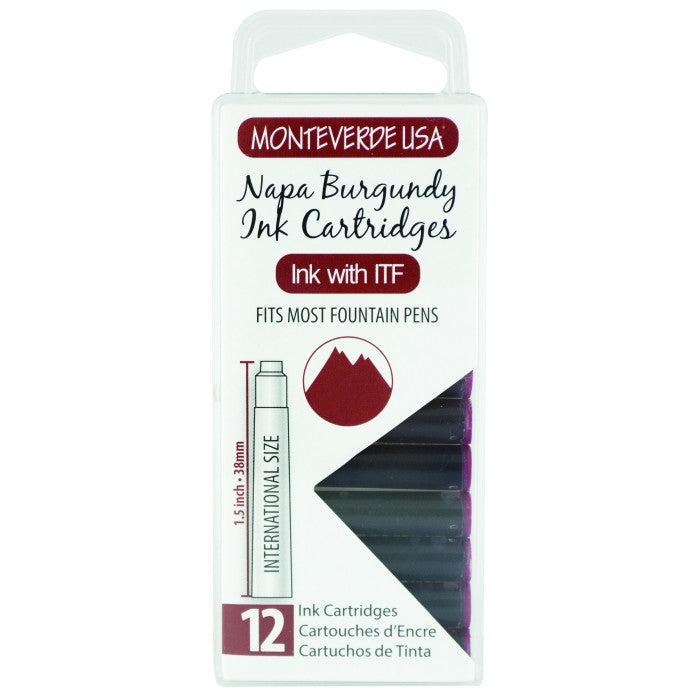 Monteverde Napa Burgundy Ink - Cartridges