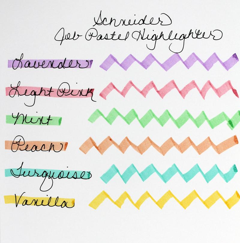 Schneider Job Pastel Highlighter writing sample
