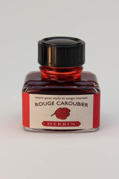 J. Herbin Rouge Caroubier Ink - 30ml Bottle